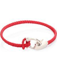Ferragamo - Double Wrap Leather Bracelet - Lyst