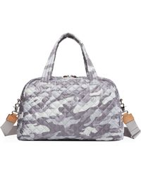 MZ Wallace Quilted Light Gray Camo Jimmy Travel