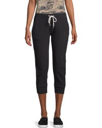 Monrow - Cropped Sporty Sweatpants - Lyst