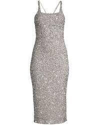 Parker Black Sage Sleeveless Sparkle Dress - Metallic