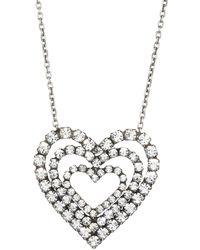 DANNIJO Cheri Triple-layer Heart Pendant Necklace - Metallic