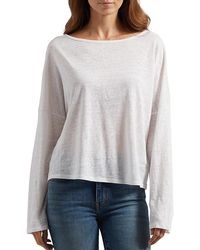 Joie Darlina Linen Long-sleeve Top - Multicolor