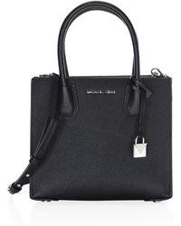 MICHAEL Michael Kors - Mercer Medium Leather Messenger Bag - Lyst