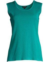 Misook Classic Knit Tank - Green