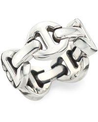 Hoorsenbuhs Heritage Brute Classic Tri-link Sterling Silver Ring - Metallic