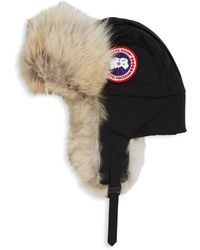 Canada Goose - Men's Aviator Fur Hat - Black - Size S/m - Lyst