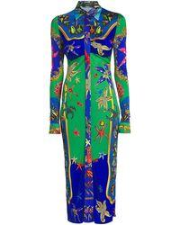 Versace - Trésor De La Mer Midi Dress - Lyst