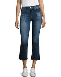 Hudson | Brix High-rise Cropped Flared Jeans | Lyst