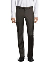 Isaia Gregory Basic Wool Pants - Brown