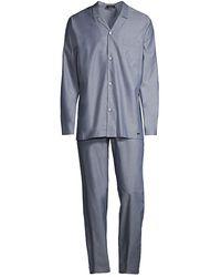 Hanro Night & Day 2-piece Pajama Set - Blue