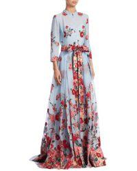 Carolina Herrera - Floral Bouquet Gown - Lyst