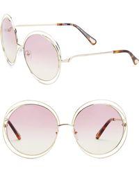 Chloé - 38073 62mm Round Sunglasses - Lyst