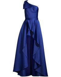 Jay Godfrey 2pc Romper With Ballgown Skirt - Blue