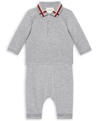 Gucci | Baby's Two-piece Polo & Pants Gift Set | Lyst
