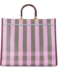 Fendi Ff Jacquard Stripe Shopper - Multicolor