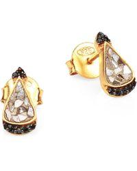 Shana Gulati - Palo 18k Gold, Diamond & Vermeil Stud Earrings - Lyst