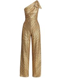 THEIA Marley Sequined Jumpsuit - Metallic
