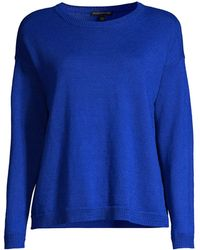 Eileen Fisher Crew-neck Boxy Sweater - Blue