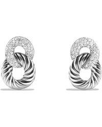 David Yurman - Belmont Link Drop Earrings With Diamonds - Lyst