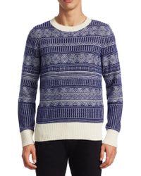Burberry - Fair Isle Sweater - Lyst