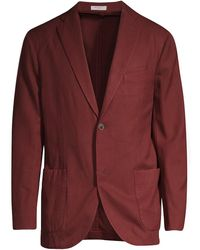 Boglioli Wool Twill Jacket - Red