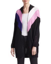 Maje - Morgane Stripe Knit Cardigan - Lyst