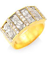 Shana Gulati - Ajmer Goldplated & Diamonds Ring - Gold - Lyst