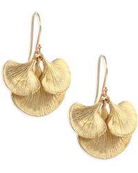 Annette Ferdinandsen - Small Gingko Cluster Earrings - Lyst