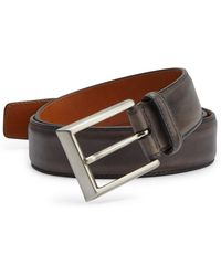 Saks Fifth Avenue - Saks Fifth Avenue By Magnanni Barnished Leather Belt - Lyst