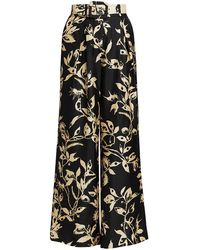Zimmermann Ladybeetle Wide-leg Silk Pants - Black