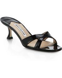 17c062da8e38 Lyst - Valentino Crisscross Patent High-heel Pump in Black