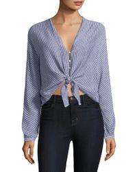 Rails - Sloane Stripe Tie Front Top - Lyst