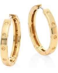 Roberto Coin - Symphony 18k Yellow Gold Hoop Earrings/0.75 - Lyst
