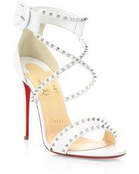 Christian Louboutin - Choca Spikes 100 Leather Sandals - Lyst
