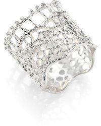 Aurelie Bidermann - Vintage Lace Ring/silvertone - Lyst