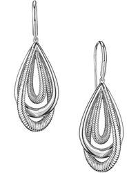 Judith Ripka Eternity Sterling Silver Small Teardrop Earrings - Metallic