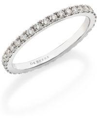 De Beers - Classic Diamond & Platinum Full Eternity Band Ring - Lyst