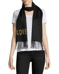 Gucci - Loved Sequined Silk & Cashmere Scarf - Lyst