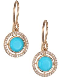 Astley Clarke | Biography Celestial Turquoise, Diamond & 14k Yellow Golddrop Earrings | Lyst