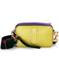 Marc Jacobs The Snapshot Coated Leather Camera Bag - Purple