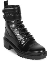 Balmain | Ranger Cartel Leather Boots | Lyst