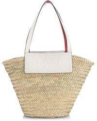 Christian Louboutin Loubishore Leather-trimmed Straw Tote - Multicolor