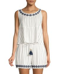 L*Space - Bridget Embroidered Top - Lyst