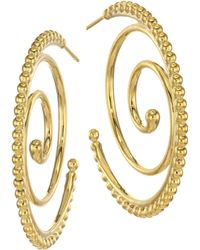 Temple St. Clair - Midnight Oasis Arabesque 18k Yellow Gold Hoop Earrings - Lyst
