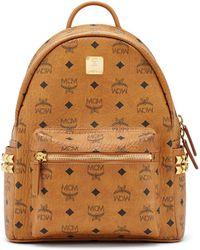 MCM - Stark Studded Coated Canvas Mini Backpack - Lyst