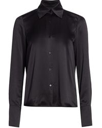 Adriana Iglesias June Silk Shirt - Black