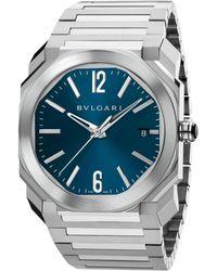 BVLGARI - Octo Stainless Steel Bracelet Watch - Lyst