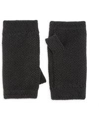 Loro Piana Fingerless Cashmere Gloves - Black