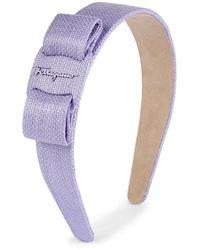 Ferragamo Bow Motif Chambray Headband - Multicolor