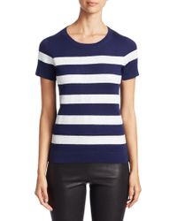 Saks Fifth Avenue - Collection Sequin Stripe Silk And Cashmere Tee - Lyst
